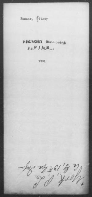 Fannar, Sidney - State: [Blank] - Year: [Blank]