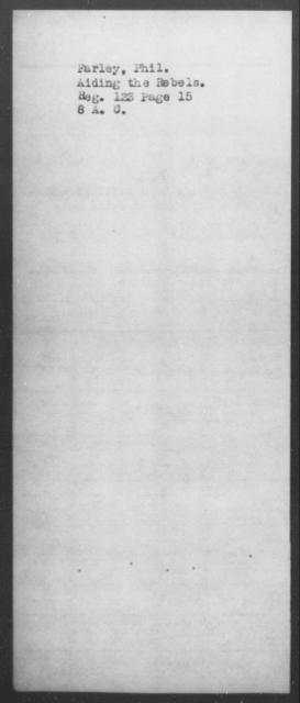 Farley, Phil - State: [Blank] - Year: [Blank]