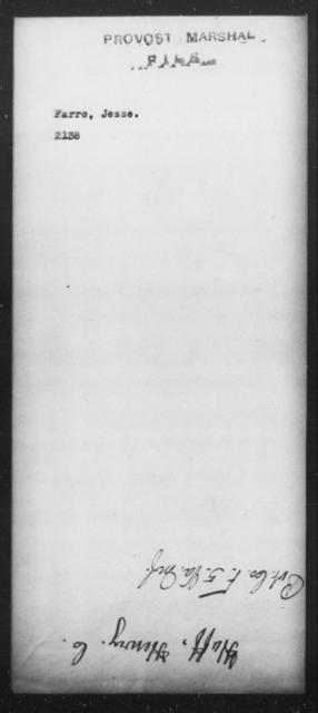 Farre, Jesse - State: [Blank] - Year: [Blank]