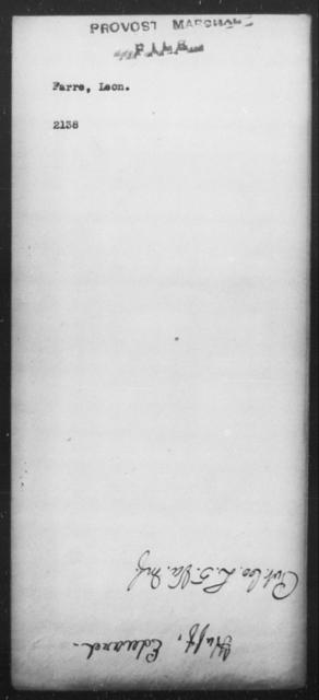 Farre, Leon - State: [Blank] - Year: [Blank]