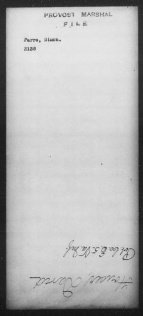 Farre, Simon - State: [Blank] - Year: [Blank]