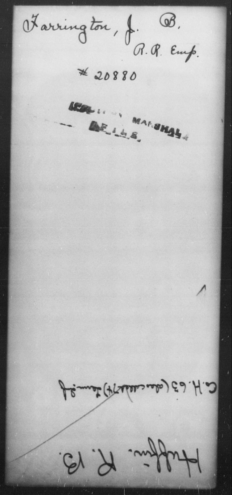 Farrington, J B - State: [Blank] - Year: [Blank]
