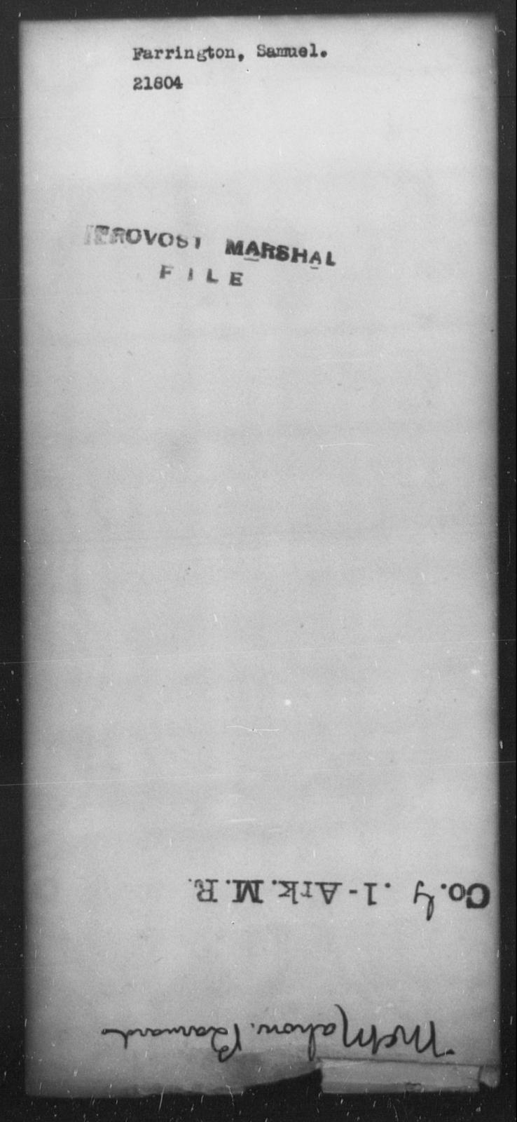 Farrington, Samuel - State: [Blank] - Year: [Blank]
