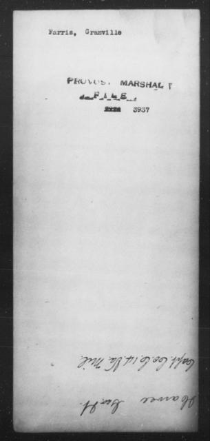 Farris, Granville - State: [Blank] - Year: [Blank]