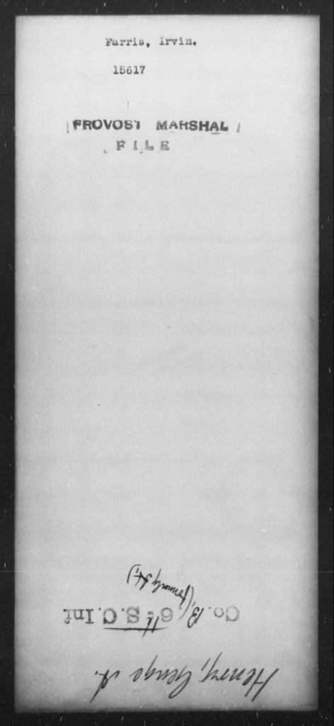 Farris, Irvin - State: [Blank] - Year: [Blank]