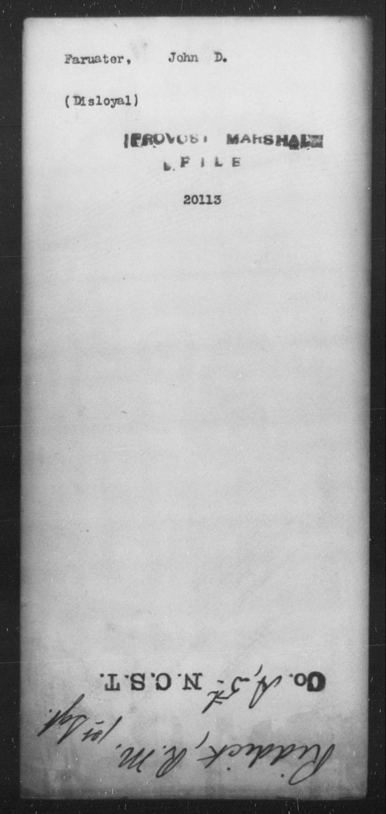 Farris, John D - State: [Blank] - Year: [Blank]