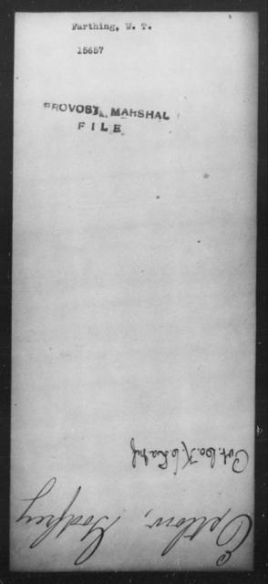 Farthing, W T - State: [Blank] - Year: [Blank]