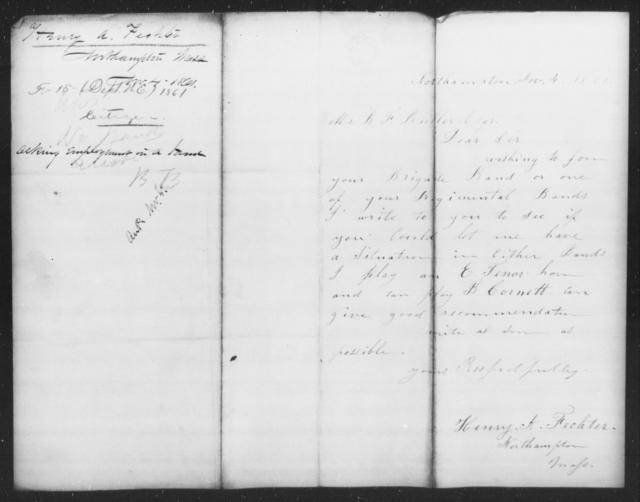 Fechter, Henry A - State: Massachusetts - Year: 1861