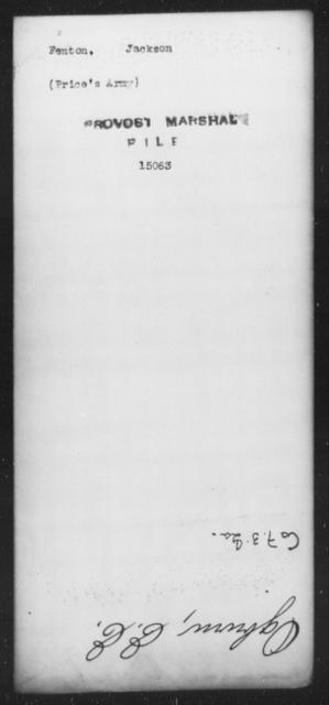 Fenton, Jackson - State: [Blank] - Year: [Blank]