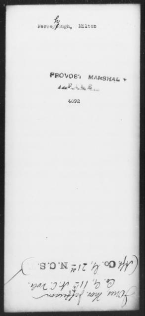 Ferreyhough, Milton - State: [Blank] - Year: [Blank]
