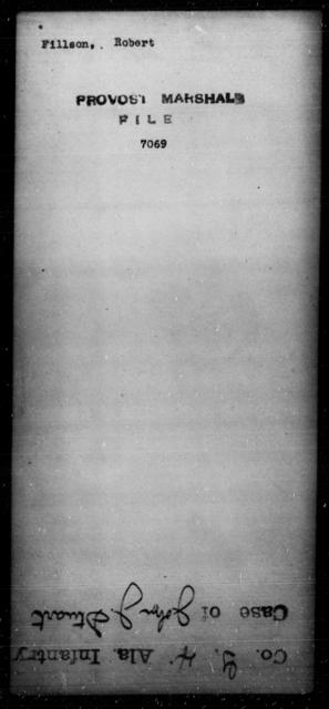 Fillson, Robert - State: [Blank] - Year: [Blank]