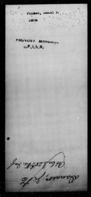 Fincher, Samuel B - State: [Blank] - Year: [Blank]
