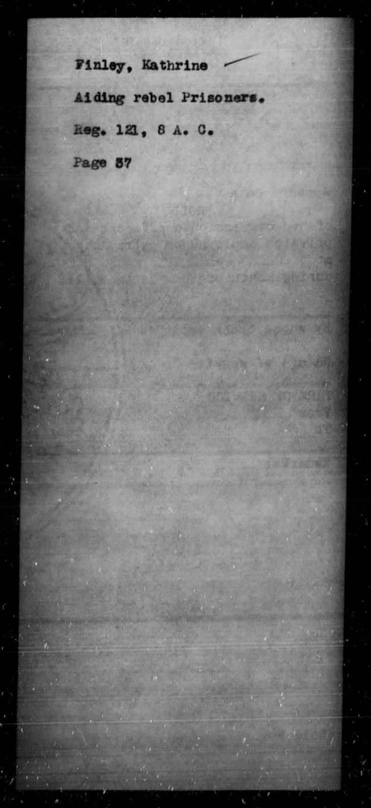 Finley, Kathrine - State: [Blank] - Year: [Blank]