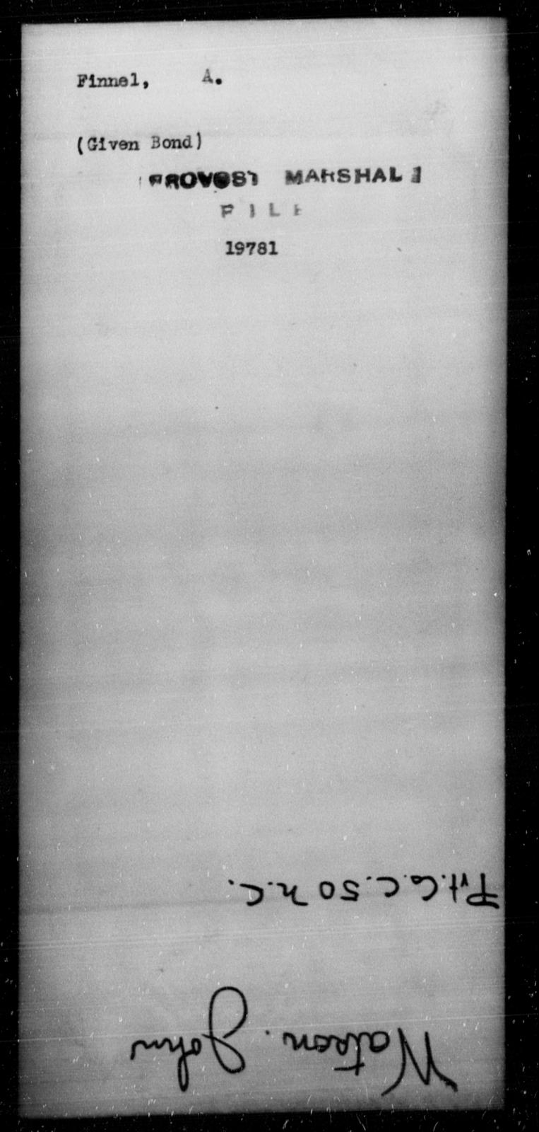 Finnel, A - State: [Blank] - Year: [Blank]