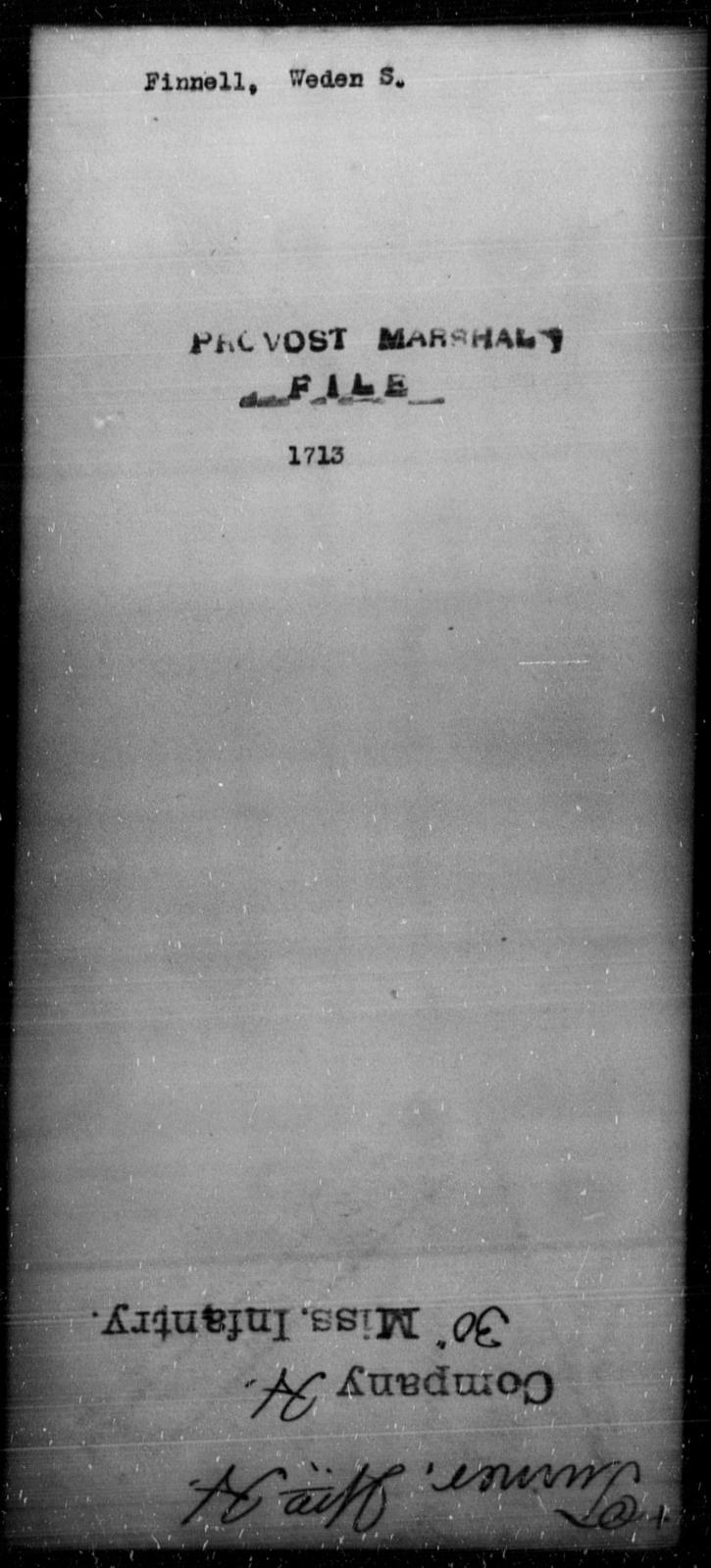 Finnell, Weden S - State: [Blank] - Year: [Blank]