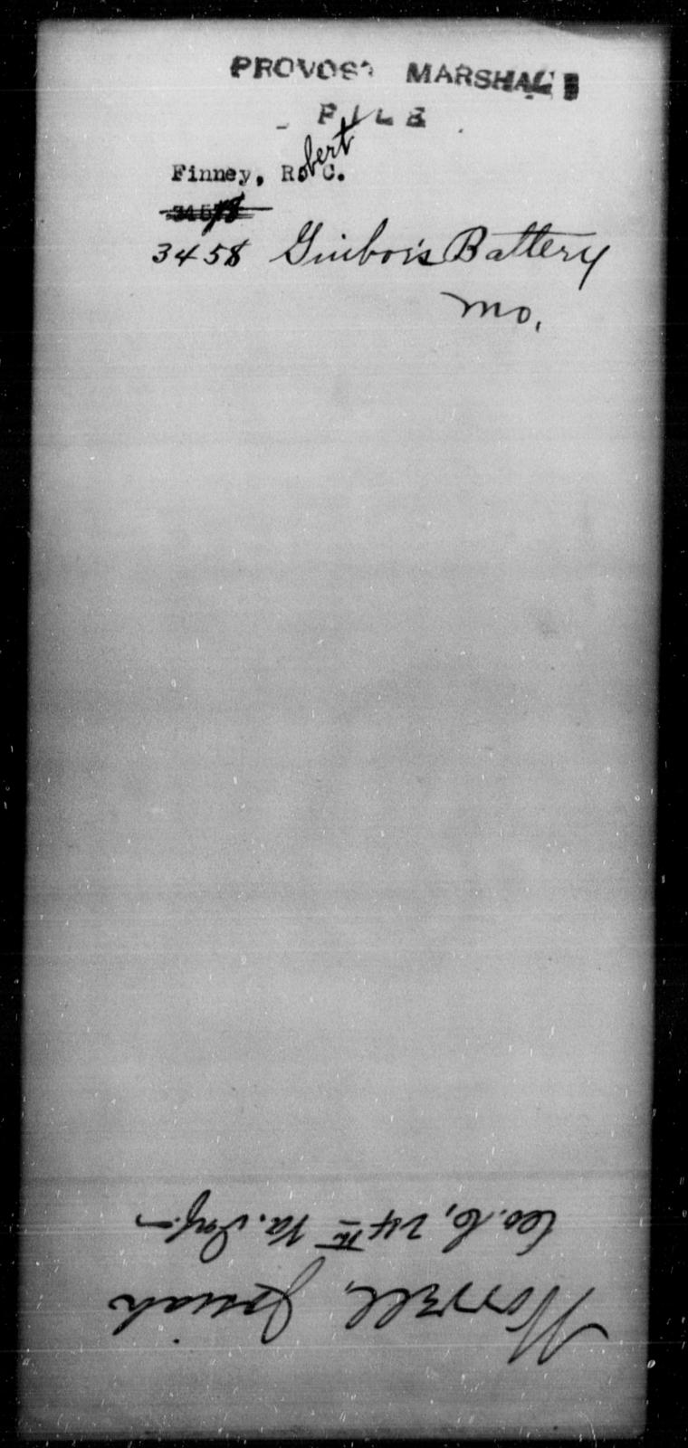 Finney, Robert C - State: Missouri - Year: [Blank]