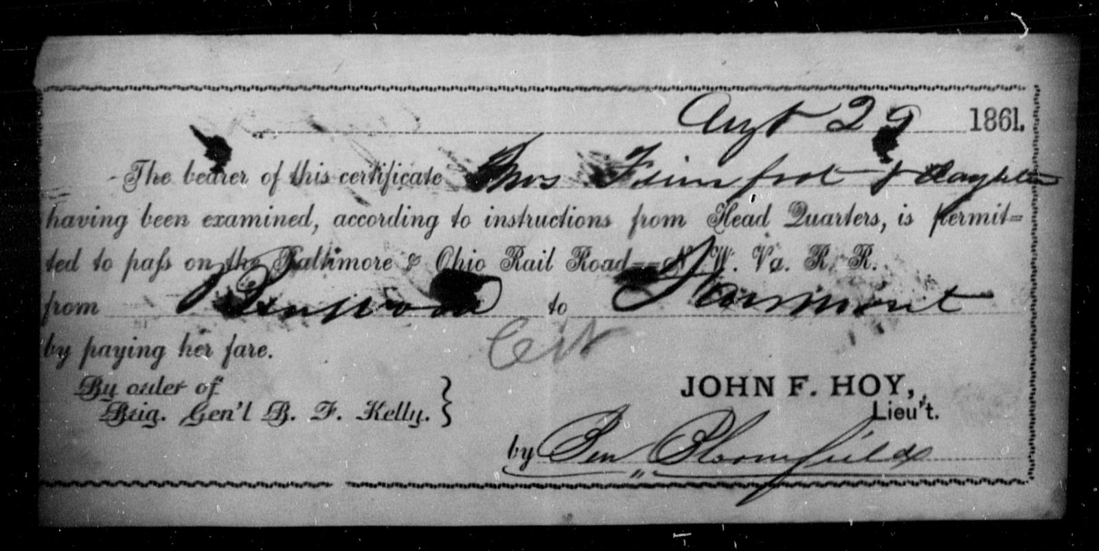 Firmfort, [Blank] - State: Ohio - Year: 1861