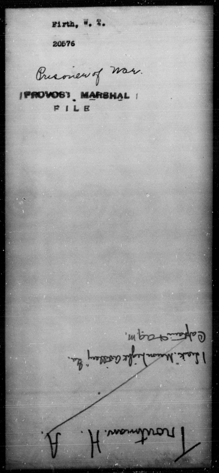 Firth, W T - State: [Blank] - Year: 1864