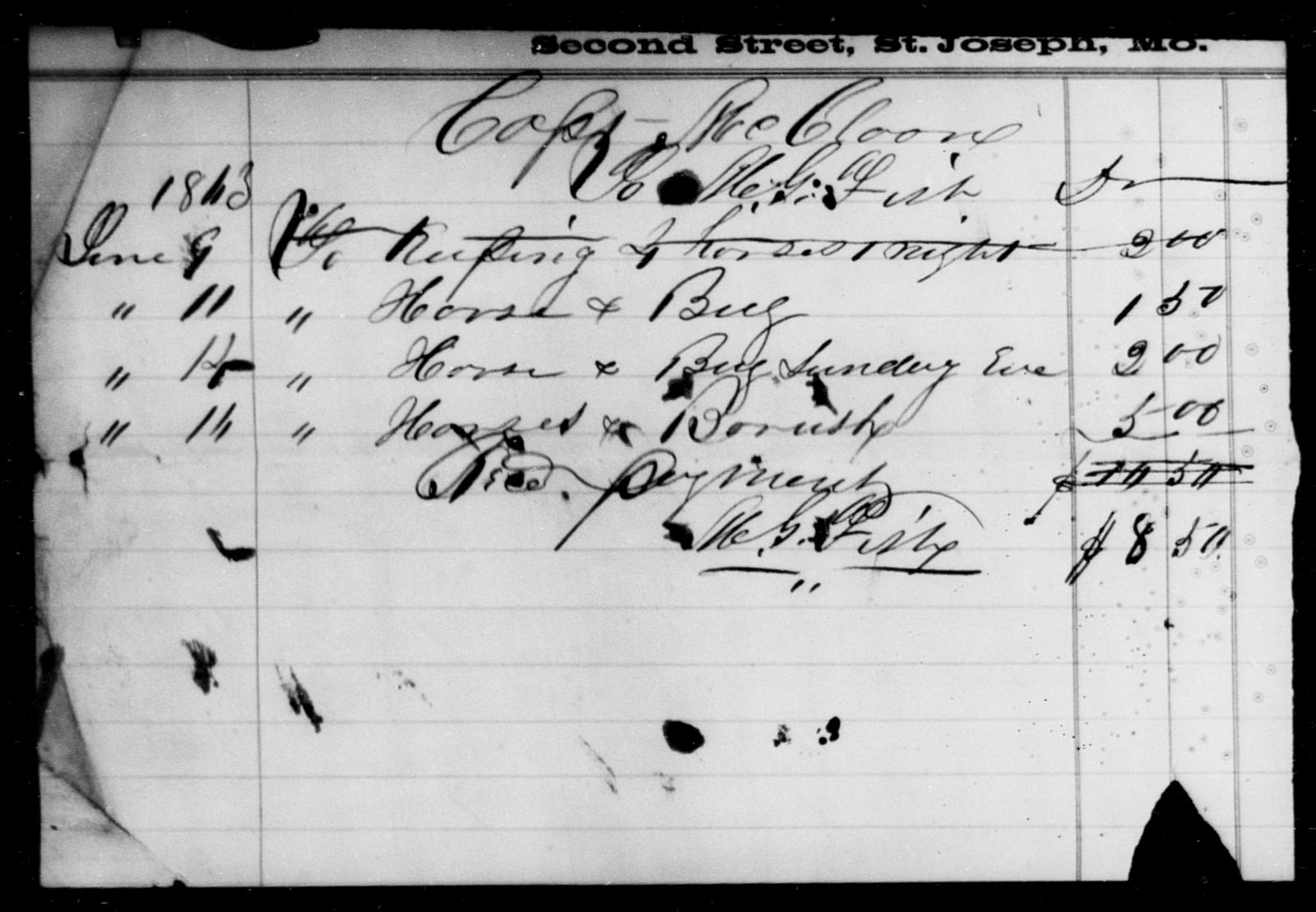 Fish, M G - State: Missouri - Year: 1863