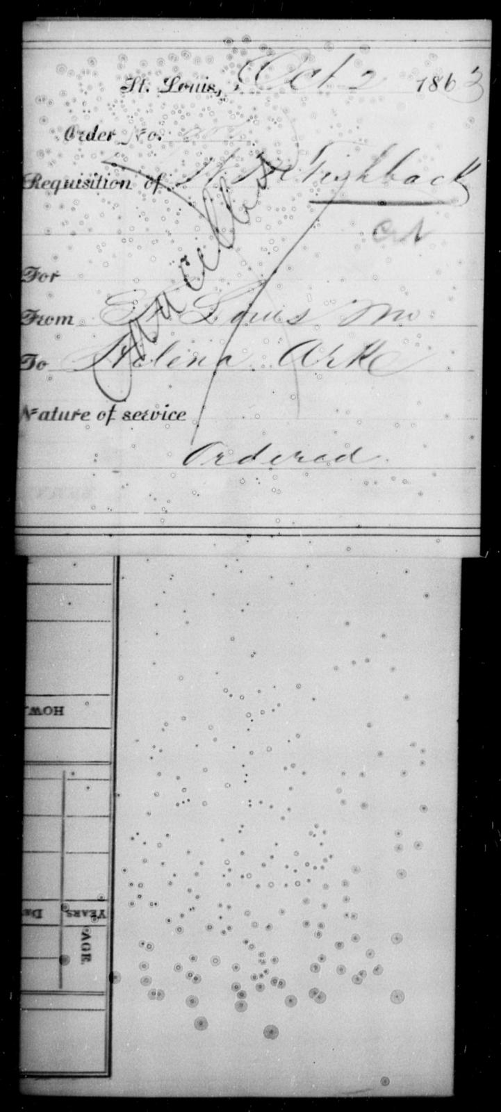Fishback, H M - State: Missouri - Year: 1863