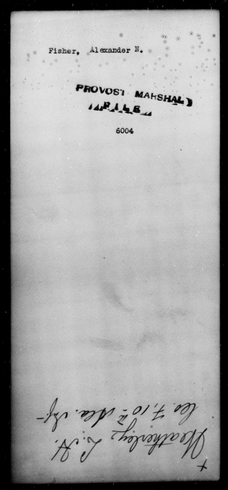 Fisher, Alexander N - State: [Blank] - Year: [Blank]
