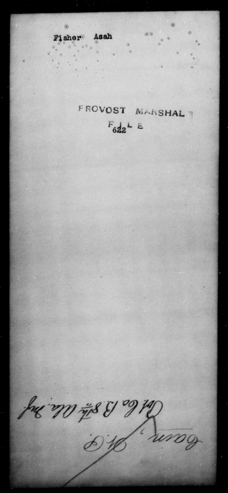 Fisher, Asah - State: [Blank] - Year: [Blank]