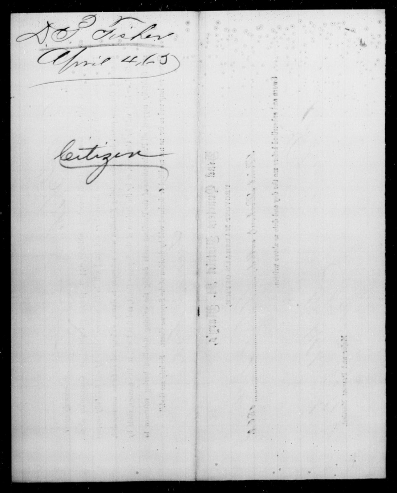 Fisher, Danore P - State: Maryland - Year: 1865