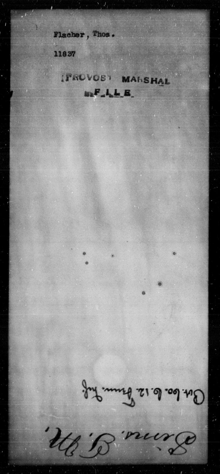 Flacher, Thos - State: [Blank] - Year: [Blank]