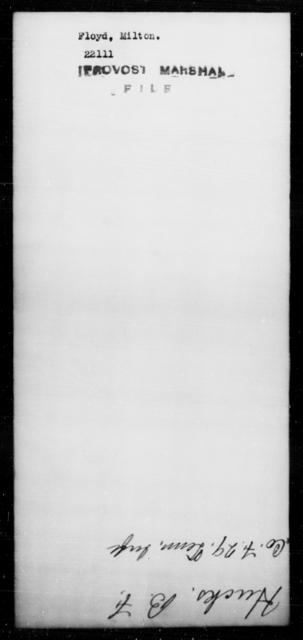Floyd, Milton - State: [Blank] - Year: [Blank]