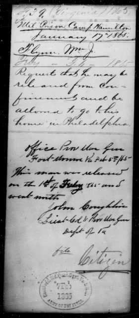 Flynn, Wm J - State: Virginia - Year: 1865