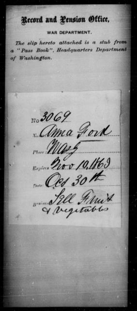 Ford, Anna - State: Washington - Year: 1863