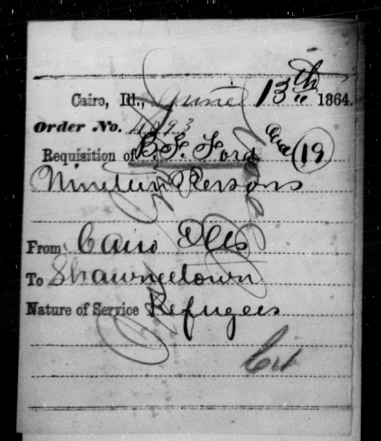 Ford, B F - State: Illinois - Year: 1864