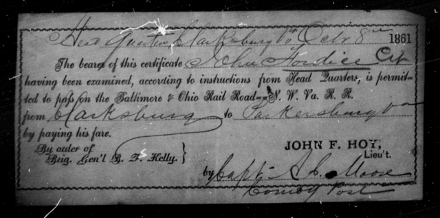Fordice, John - State: Virginia - Year: 1861