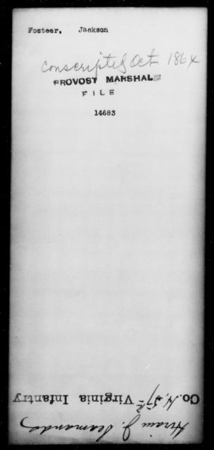 Fosteer, Jackson - State: [Blank] - Year: [Blank]
