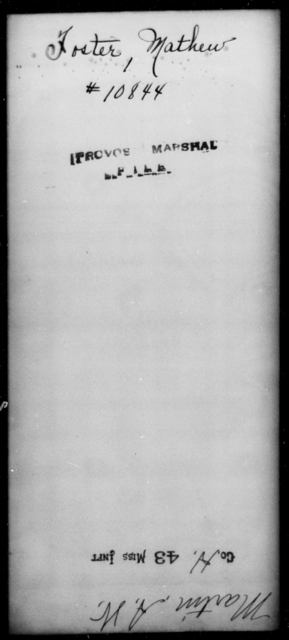 Foster, Mathew - State: [Blank] - Year: [Blank]