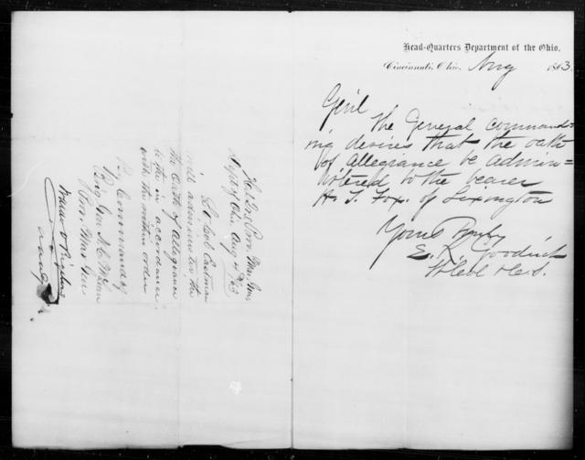 Fox, H F - State: Ohio - Year: 1863