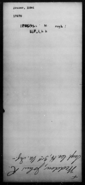 Frazer, Edwd - State: [Blank] - Year: [Blank]