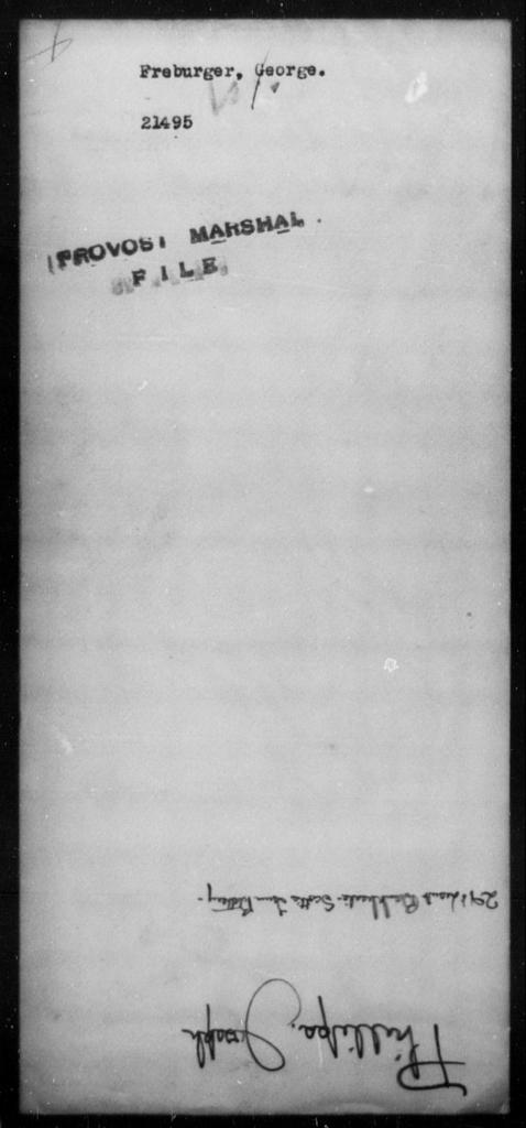 Freburger, George - State: [Blank] - Year: [Blank]