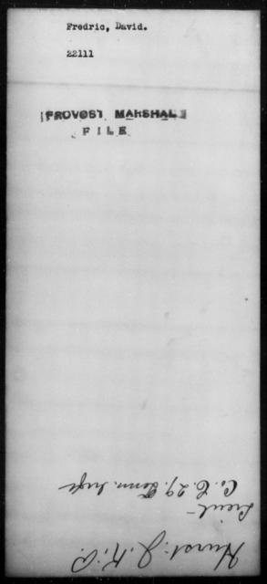 Frederic, David - State: [Blank] - Year: [Blank]