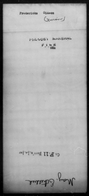Fredericks, Gideon - State: [Blank] - Year: [Blank]
