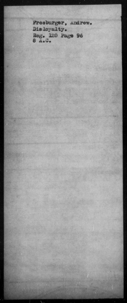 Freeburger, Andrew - State: [Blank] - Year: [Blank]