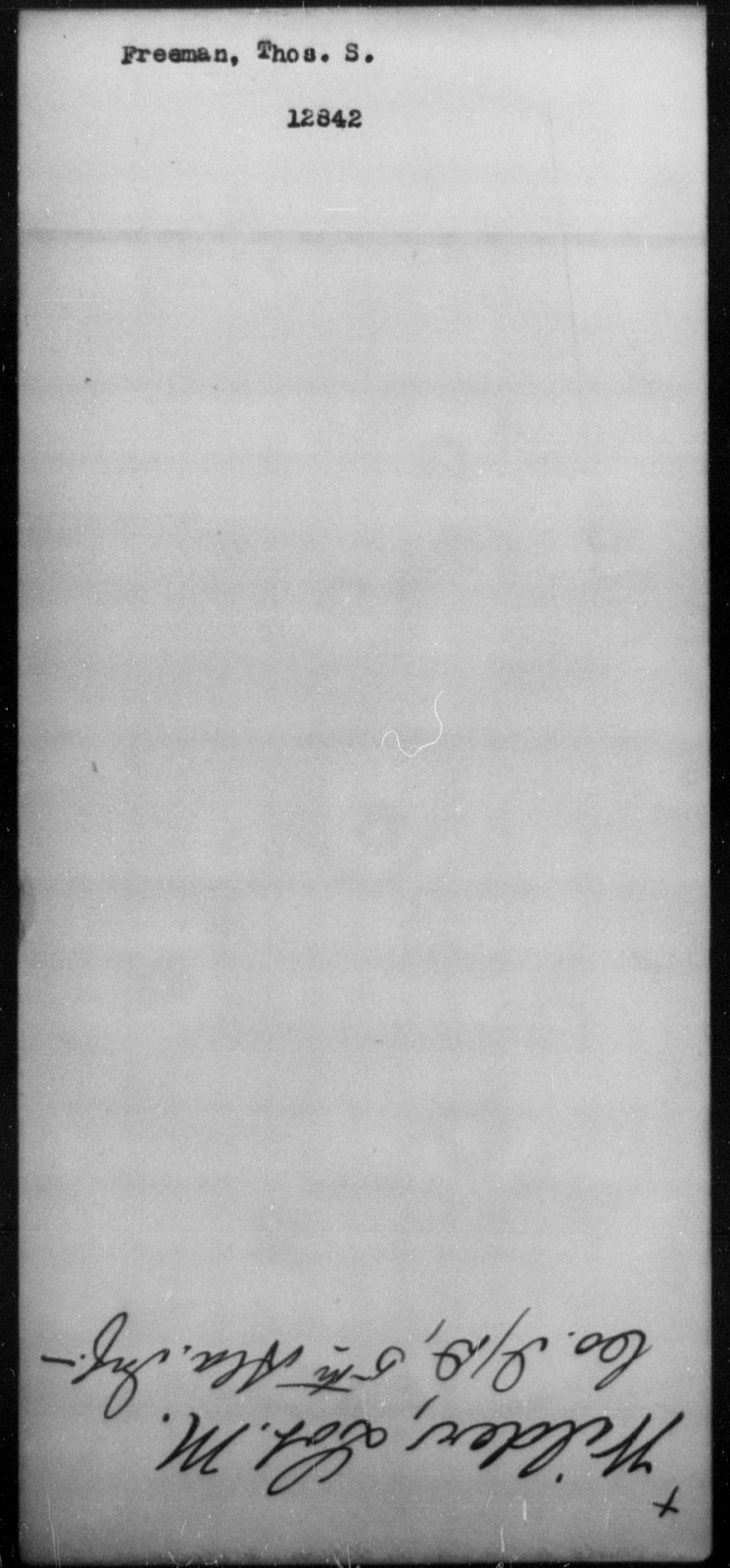 Freeman, Thos S - State: [Blank] - Year: [Blank]