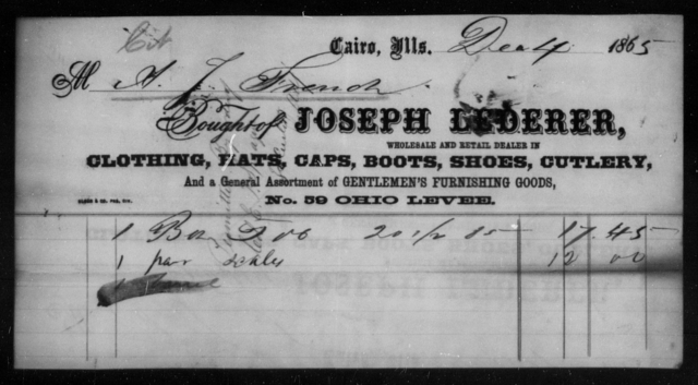 French, A J - State: Illinois - Year: 1865