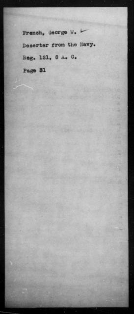 French, George W - State: [Blank] - Year: [Blank]