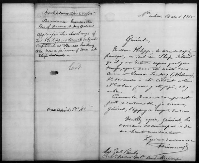 French, Philippi - State: Mississippi - Year: 1865
