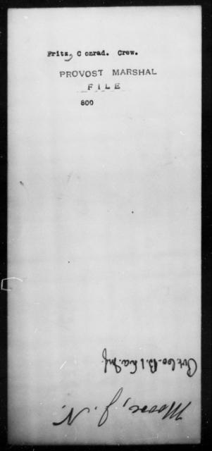 Fritz, Conrad Crew - State: [Blank] - Year: [Blank]