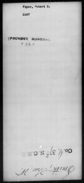 Fryer, Robert T - State: [Blank] - Year: [Blank]