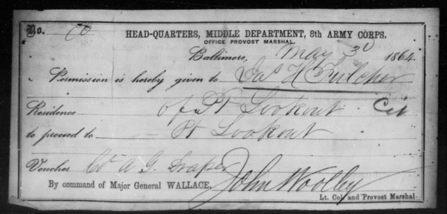 Fulcher, Jas H - State: [Blank] - Year: 1864