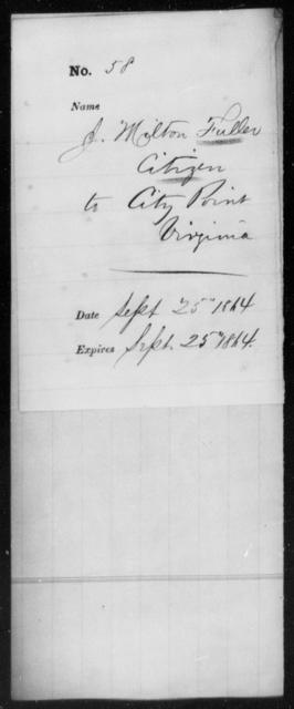 Fuller, J Milton - State: Virginia - Year: 1864