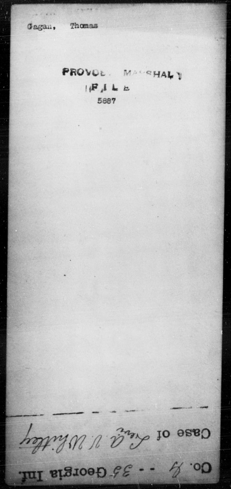 Gagan, Thomas - State: [Blank] - Year: [Blank]